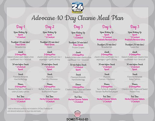 AdvoCare 10 Day Cleanse Phase Meal Plan | AdvoCare in 2018 | Pinterest | 10  day cleanse, Advocare 10 day cleanse and 24 day challenge