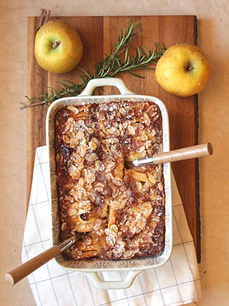 Clafoutis d'automne aux pommes, poires et amandes (IG BAS)