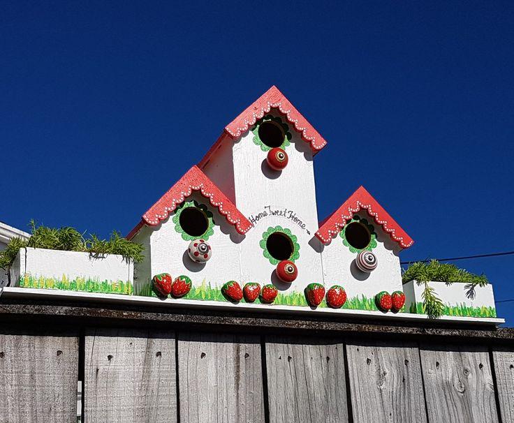 #birdhouse #strawberryrocks #rockpainting . Home Tweet Home