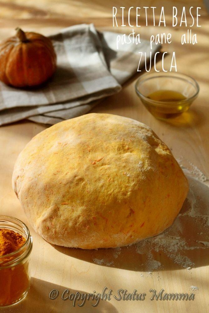 Ricetta base pasta di pane alla zucca ricetta cucinare lievitato semplice facile economiche con ortaggio verdura Statusmamma BlogGz Giallozafferano