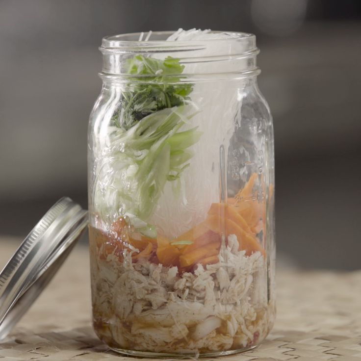 "Pho in a Jar - You'll never ""phở-get"" this easy and delicious lunch at home."