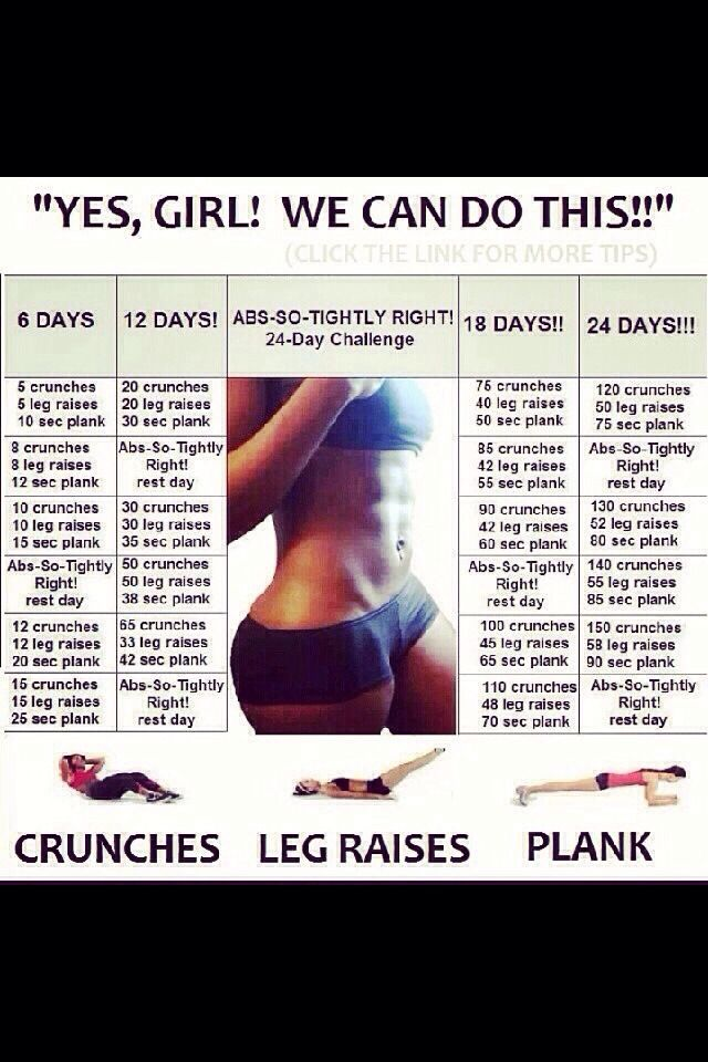 24 Day Abs Challenge