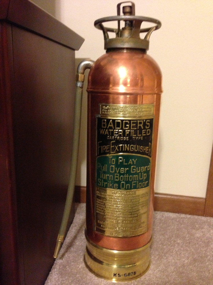 Fire Extinguisher Copper And Brass Circa 1940 S Fire
