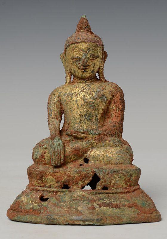 Late 16th Century, Early Shan, Burmese Bronze Buddha
