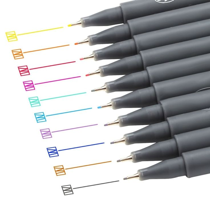 "Promising review: ""These have great color saturation, glide easily on paper, and don't bleed through to the next page! I can't recommend them enough. The shape is also amazing — they are beautifully crafted all the way to the cap. 10/10 will be buying more in the future."" —mfinGet a set of 10 for $5.92 or a set of 18 for $9.99, both from Amazon."