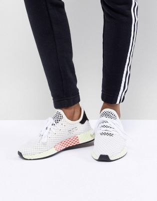 c2adb4c8609 adidas Originals Deerupt Runner Sneakers In White And Yellow in 2019 ...