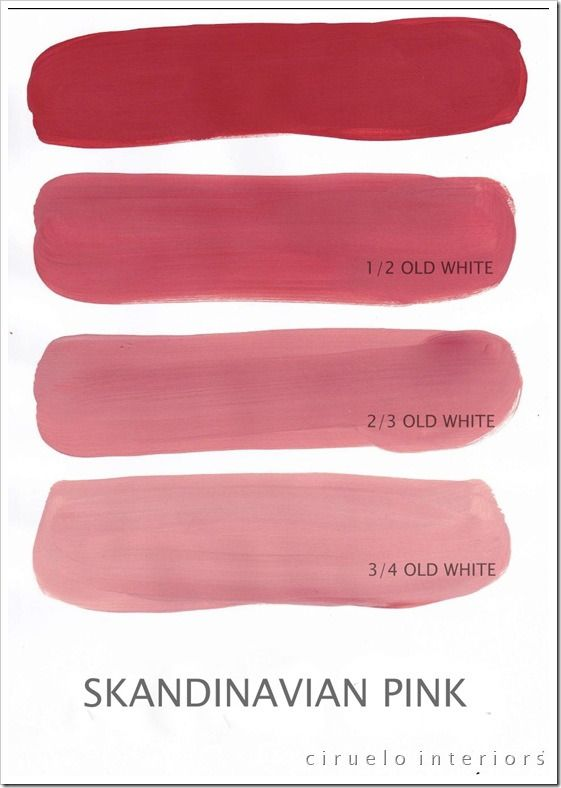 Ascp Scandinavian Pink Paint Colors Pinterest