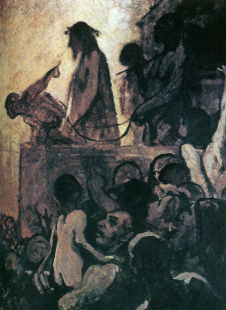 """Honoré Daumier, """"Vogliamo Barabba"""", 1850. Essen, Folkwang Museum"""