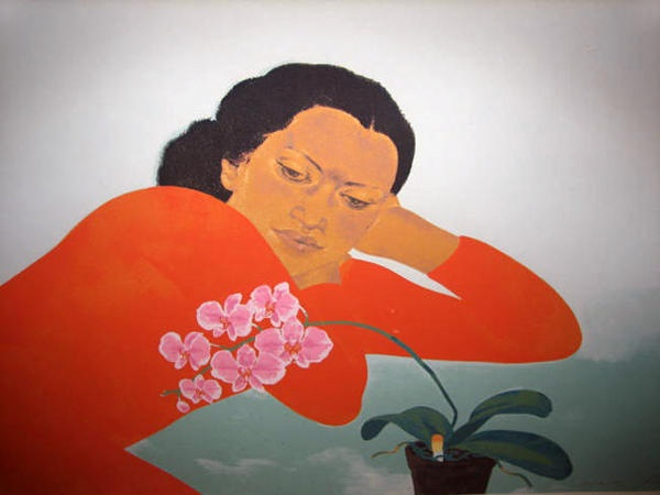 "Limited Edition Print ""Butterfly Orchids"" by Pegge Hopper"