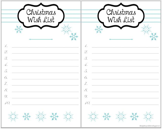 22 best christmas wish list printables images on Pinterest Merry - Christmas Wish List Printable