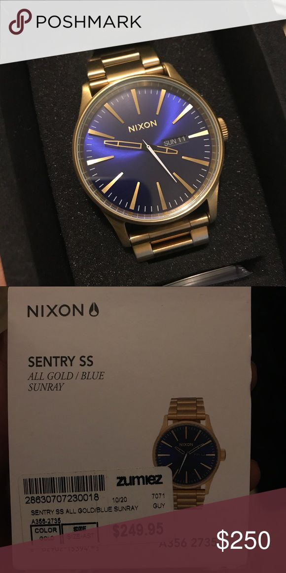 9acc5026a7e NIXON SENTRY SS    ALL GOLD   BLUE SUNRAY BRAND NEW NIXON WATCH!! PRICE IS  FIRM!! I m obviously going to be making less money due to t…