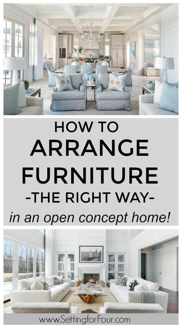 How To Arrange Furniture With An Open Concept Floor Plan Open Livin Living Room Floor Plans Open Concept Kitchen Living Room Layout Living Room Design Layout