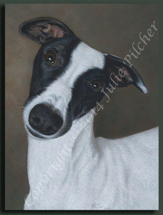 Original Custom Pet Portrait  Commission a 14 x 11 inch