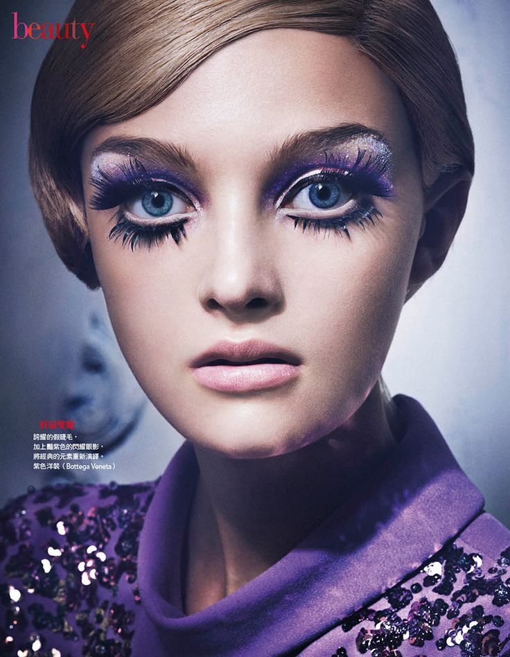 Tak Sugita Lenses 60s Inspired Beauty Looks for Vogue Taiwan bellissime le ciglia finte
