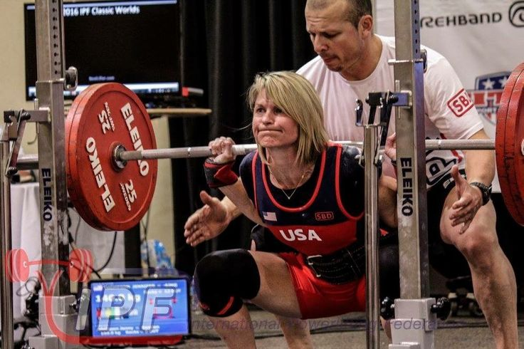 Jennifer Thompson.  SSP proponent, National Champion, World Champion, World record Holder, USA Powerlifting Hall of Fame