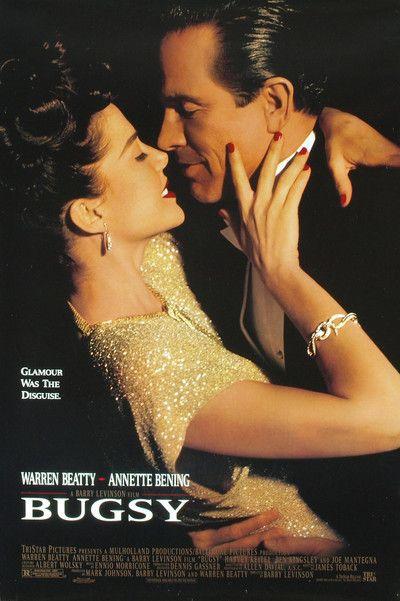 Annette Bening & Warren Beatty in 'Bugsy', 1991.