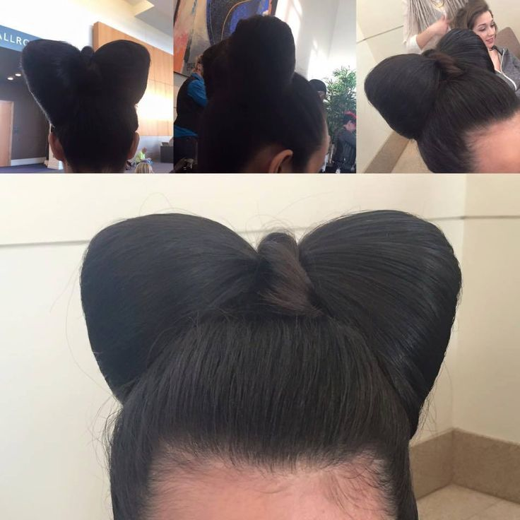 Hair bow updo by Manda Kay for the Natalie M Foundation Fashion Show.