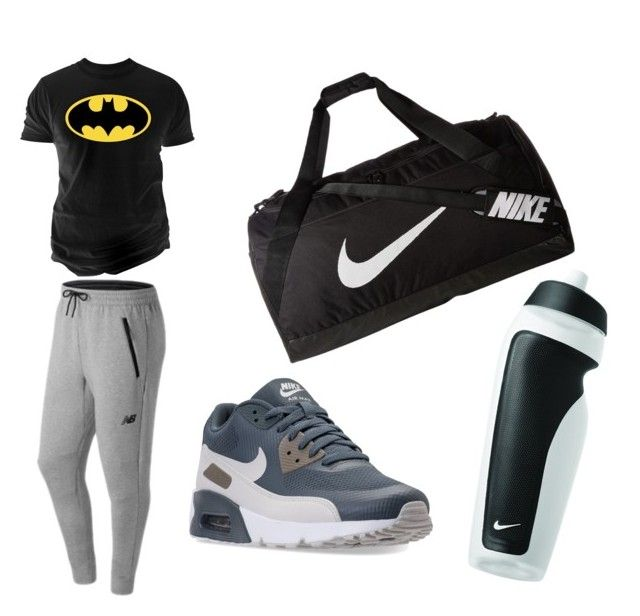 """Fitness Center Combine"" by muhammet-safak on Polyvore featuring NIKE, New Balance, Changes, men's fashion ve menswear"