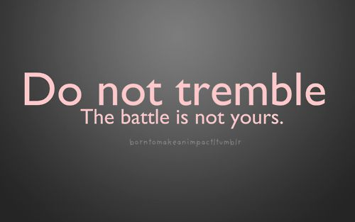 Do not tremble godslove faith