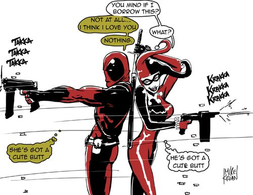 Deadpool And Harley Quinn Harley and deadpool wo...
