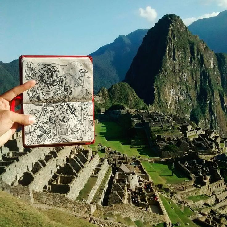 When I was at Machu Picchu an alien horde came to show me how Mapi was built... or not?