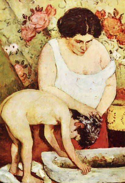 Romanian Painter: Stefan Luchian (1868 – 1917) 'Hair Washing'