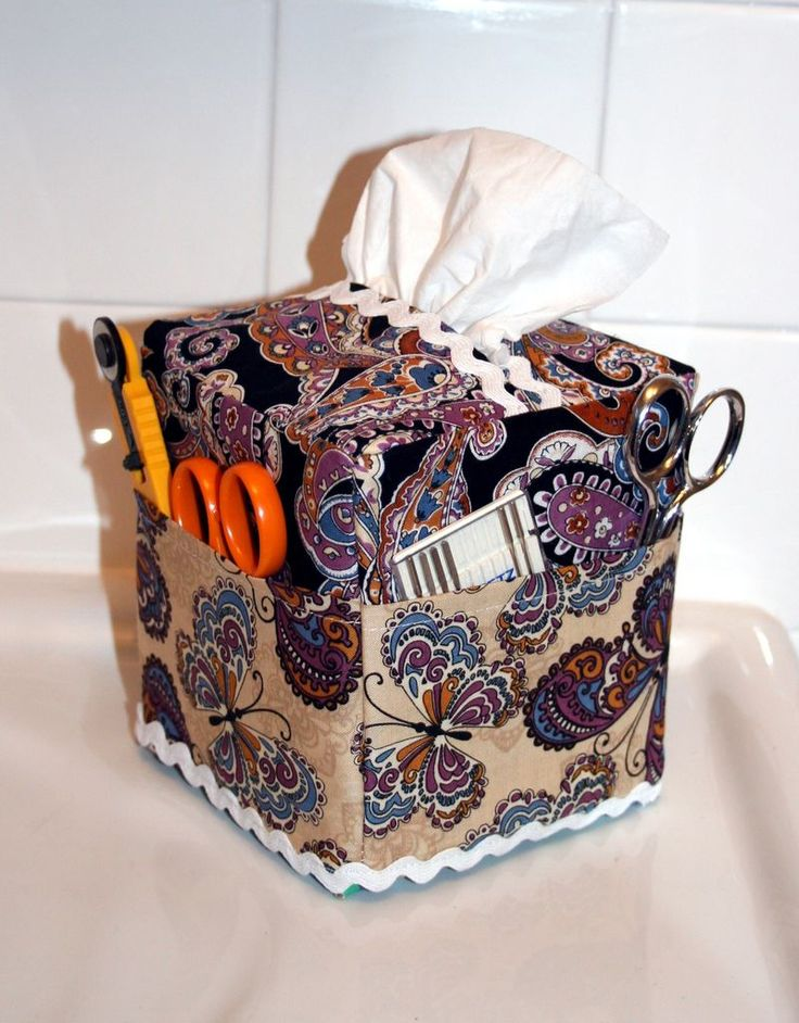 Tissue Box Cover Caddy Great For The Sewing Room Or