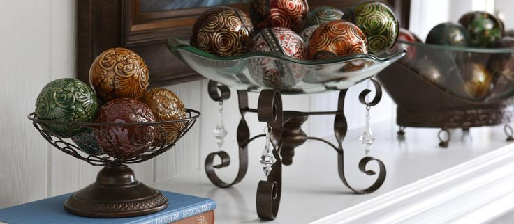 Whether you're looking for a stunning centerpiece for your dining room table or a rustic touch for your entryway, orbs and decorative bowls are the perfect solution!