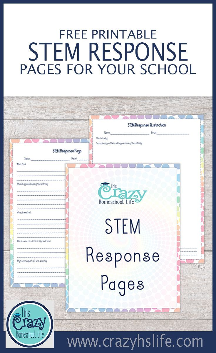 Record the fun and learning of STEM activities with our FREE STEM Response Set.