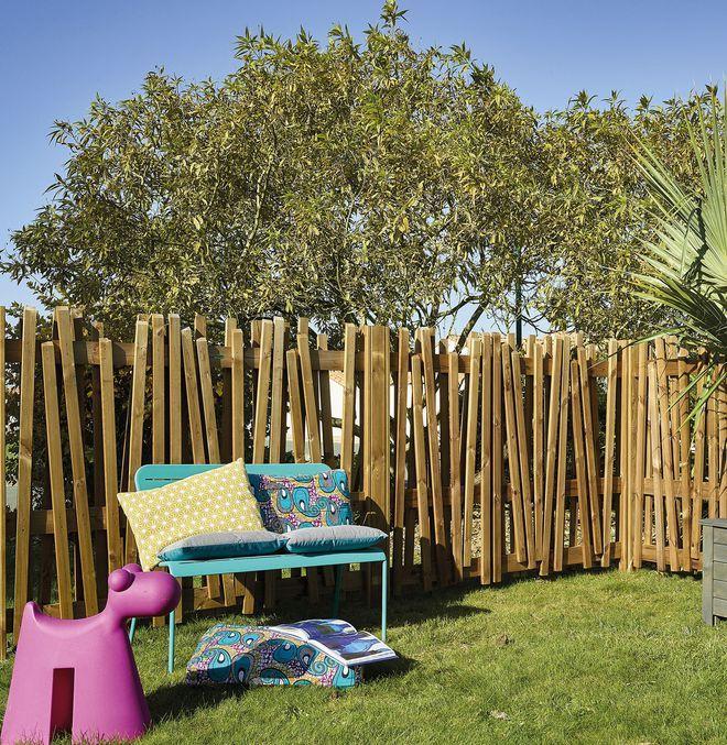 Les 10 meilleures images propos de cl tures et panneaux - Cloture de jardin en bois ...