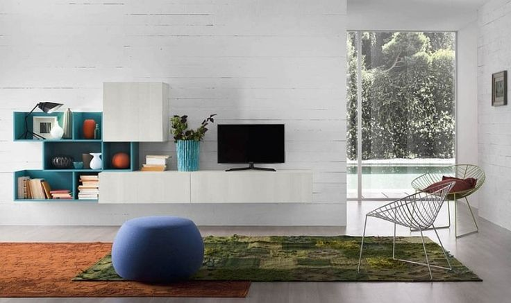 Adaptable Eco Friendly Wall Units with Bookcases and Entertainment Consoles