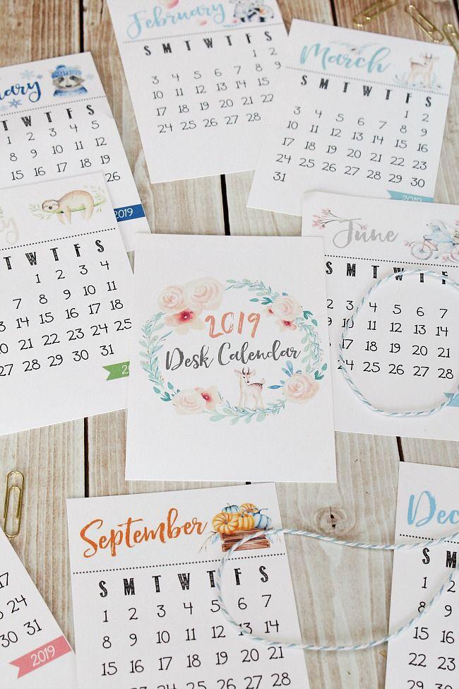 Free Printable Calendar Diy Desk Calendar Desk Calendar Free