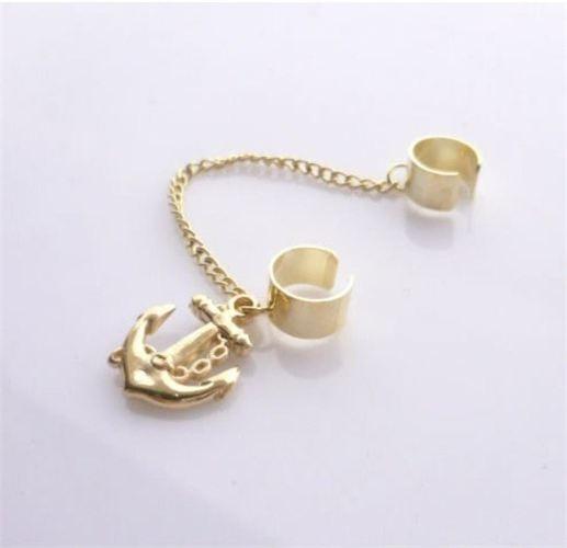 Gold Sailor Ear Cuff