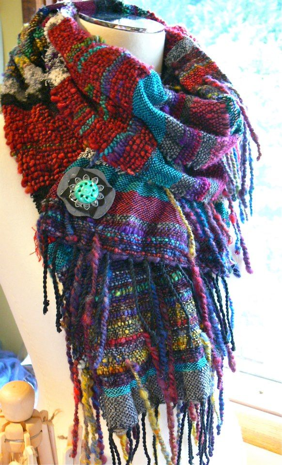 Knitting Scarves From Around The World : Best images about weaving saori and around the world