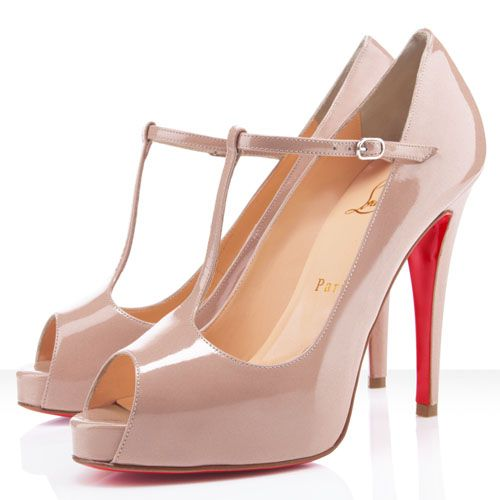 #Christian Louboutin Burlina 120mm Peep Toe Pumps Nude