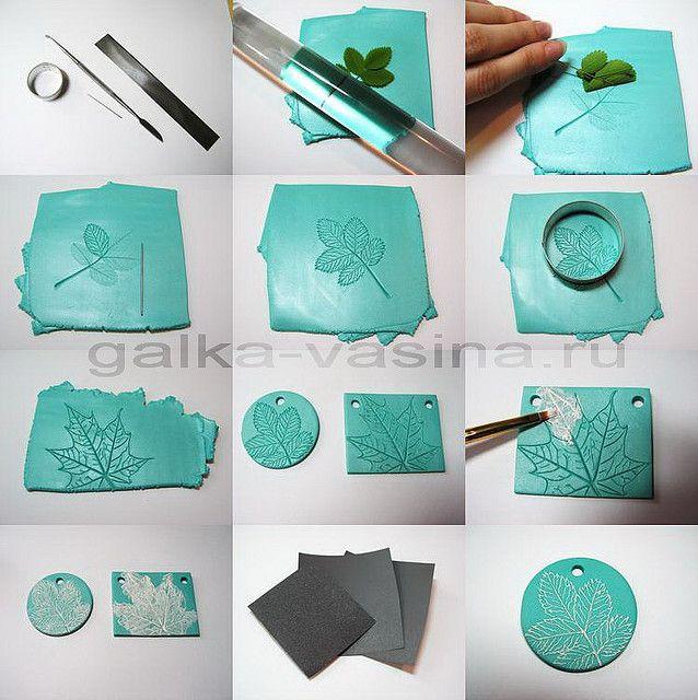 polymer clay pendant