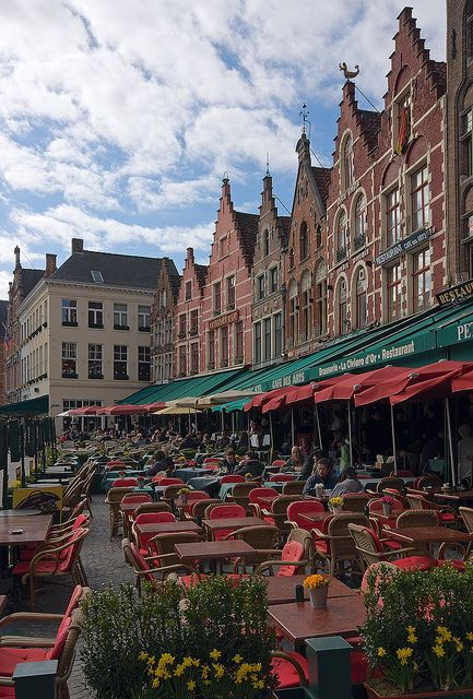 Markt, Bruges, Belgium. a place for lunch and dinner - for watching the people go by - after eating your frites with lemon mayonnaise