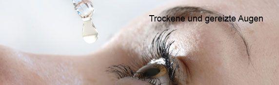 Trockene und gereizte Augen können sehr unangenehm sein und die Lebensqualität stark einschränken. Unser modernes Lebensumfeld fordert unseren Augen jeden Tag einiges ab: häufiger Aufenthalt in klimatisierten Räumen, langes Arbeiten am Computer, Zigarettenrauch, das Tragen von Kontaktlinsen, schlechte Luft oder falsche Beleuchtung. http://www.pharmeo.de/index.php/cat/c3183_Trockene-und-gereizte-Augen.html