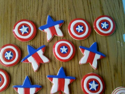 Captain America cookies - For @Tandra Reed Adams