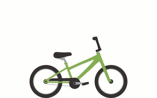 "Kids Bike Size Calculator; Nola's size 16"" 41 cm"