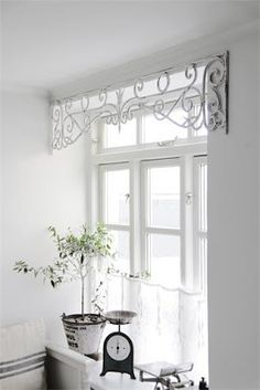 Love The Salvaged Metal Window Frieze Used As A Valance
