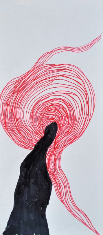 wind / pen and marker on paper / valentini mavrodoglou