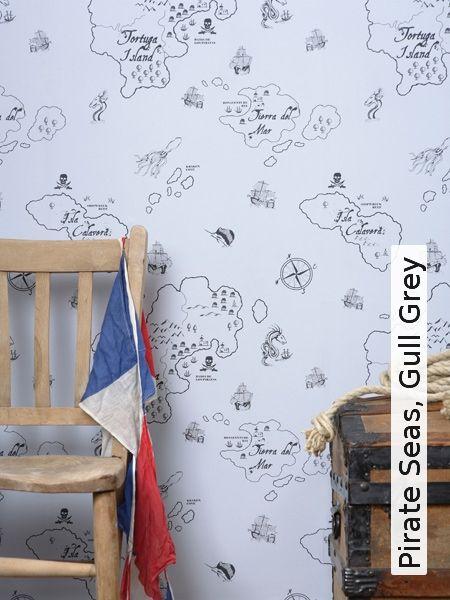 Tapete: Pirate Seas, Gull Grey - Die TapetenAgentur