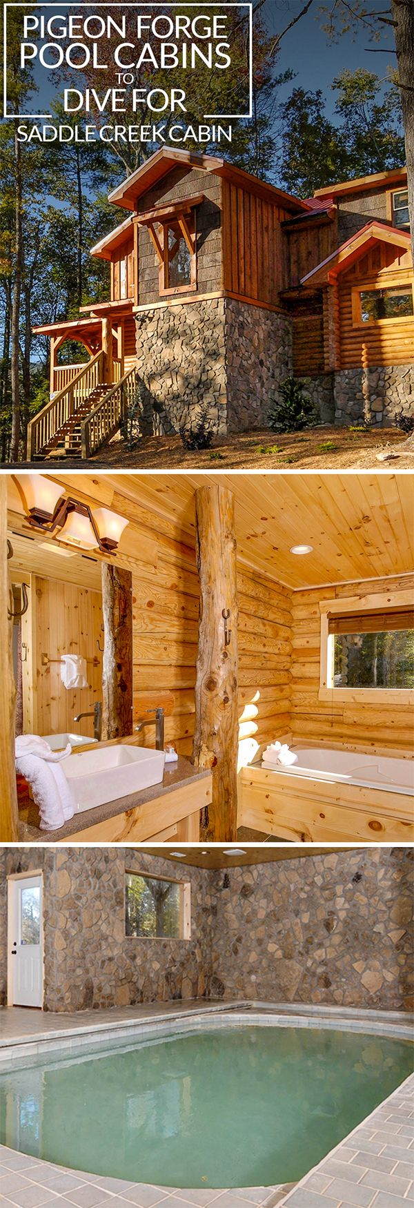 time luxurious images best pinterest has creek forge you indoor pools swims cabin on soothing to then cabins from covered cabinsforyou saddle pool baths with and pigeon