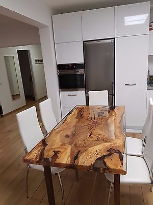 Уникальный 6 человек эпоксидной смолы стол