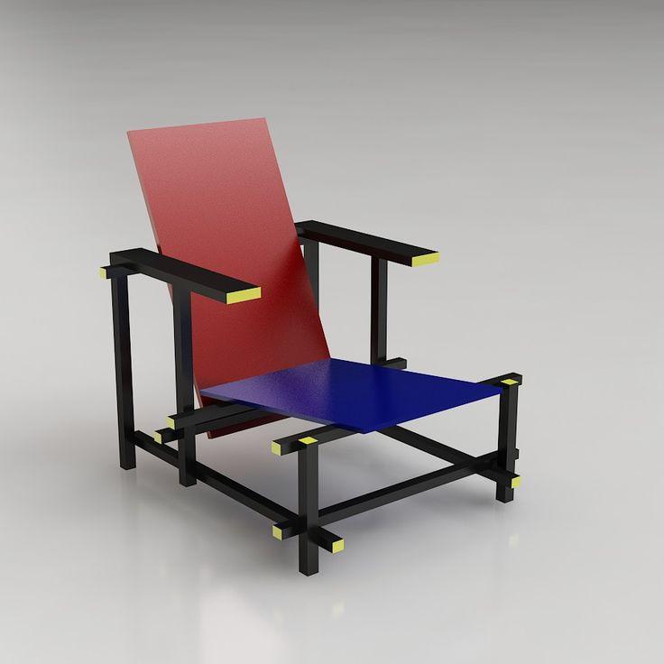 chaise de rietveld great chaise zigzag de thomas rietveld with chaise de rietveld simple. Black Bedroom Furniture Sets. Home Design Ideas