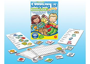 ♥ Orchard Toys Shopping List Booster Clothes Educational Kids Girls Boys Toy ♥