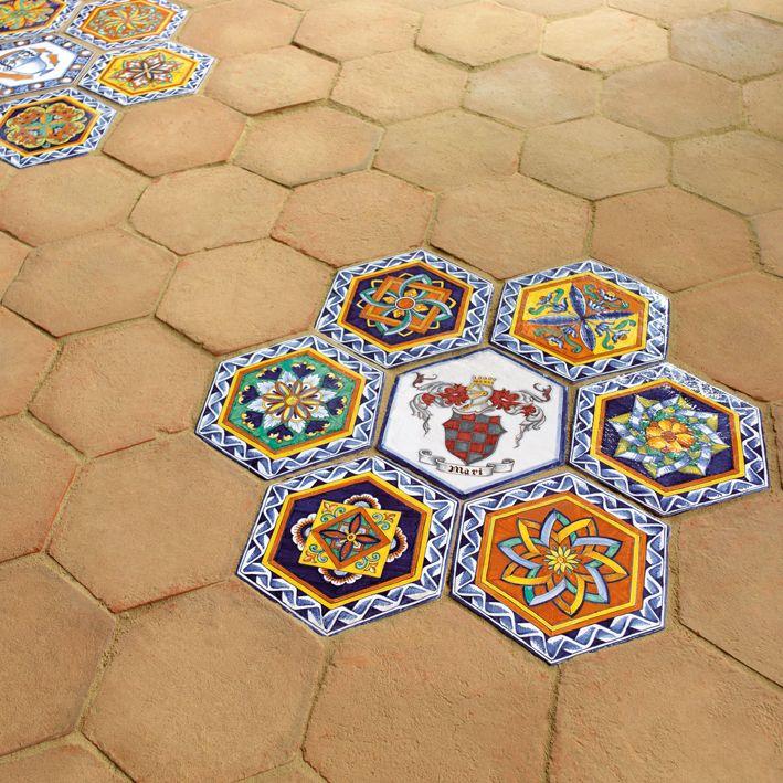 Hand painted ceramic tiles 100% made in Deruta. #italianceramics #handmade #madeinitaly #tiles