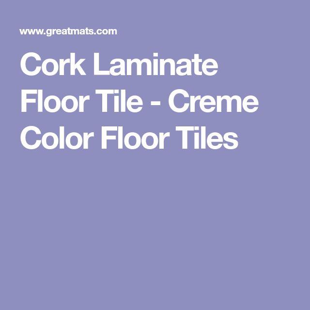 Cork Laminate Floor Tile - Creme Color Floor Tiles