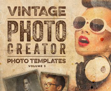 Truly Vintage Photo Templates Transform your images into awesome vintage photos for your next projects! Either you need a facebook cover or you are working on a new poster or a t-shirt print, these effects will help you finish the job faster! Included is only 1 .PSD file with everything in it! Fully layered, color ... read more